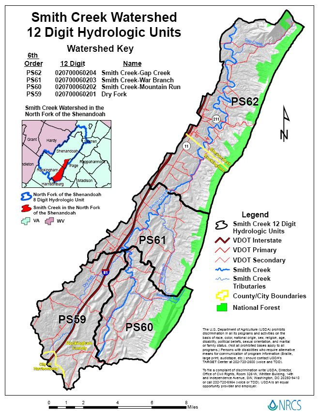 Smith Creek Watershed Units Map